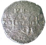 "600 Réis - Afonso VI (Countermark over ""8 Reales - Felipe IV"") – reverse"