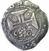 """250 Réis - Afonso VI (Countermark """"Crowned 2SO"""" over 200 Réis) – obverse"""
