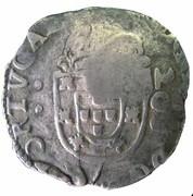 """250 Réis - Afonso VI (Countermark """"Crowned 2SO"""" over 200 Réis) – reverse"""