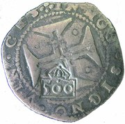 500 Réis - Afonso VI (Countermark