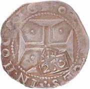 """250 Réis - Afonso VI (Countermark """"Crowned 250"""" over 200 Réis) – obverse"""