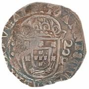 """250 Réis - Afonso VI (Countermark """"Crowned 250"""" over 200 Réis) – reverse"""