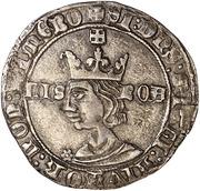 Tornês  de Busto - Fernando I (Lisboa mint) – obverse
