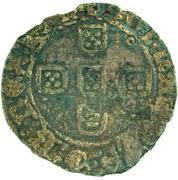 ½ Tornês de Busto - Fernando I (Lisboa mint) – reverse