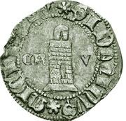 ½ Tornês Atípico - Fernando I (Corunha mint) – reverse