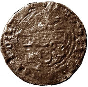 Real of 10 soldos - João I (Small disk; Porto mint) – reverse