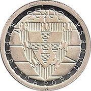 25 Escudos (Cortes de Coimbra; Silver) -  obverse