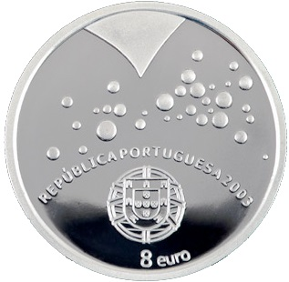 PASSION FROM EURO 2004 *****SILVER****** 8 Euro Portugal 2003