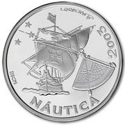 10 Euro (Ibero-America - Nautics; .925 Silver) – reverse