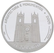10 Euro (Cathedral of Porto; proof issue) – reverse