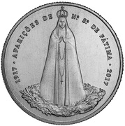 2½ Euro (100th anniversary  of Fátima) -  reverse