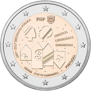2 Euro (150 Years of Public Security) -  obverse