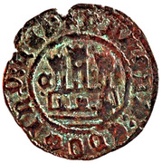 Ceitil - Afonso V (Group 9 - Castle with small towers and high wall, with doors) – obverse