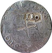 120 Réis - João IV (Countermark issue) – reverse