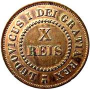 10 Réis - Luíz I – obverse