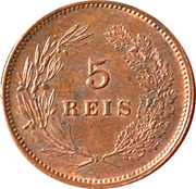 5 Réis - Carlos I -  reverse