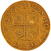 ½ Moeda - Pedro Prince Regent – reverse