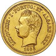 5000 Reis - Luis I (Pattern) – obverse