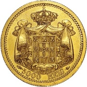 5000 Reis - Luis I (Pattern) – reverse