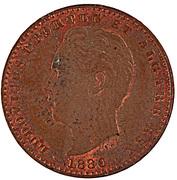 2000 Reis - Luiz I (Pattern) – obverse