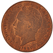 10 000 Reis - Luiz I (Pattern) – obverse