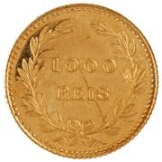 1000 Reis - Luis I (Pattern) – reverse