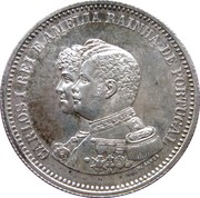200 Réis - Carlos I (Discovery of India) -  obverse