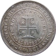 200 Réis - Carlos I (Discovery of India) -  reverse