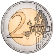 2 Euro (Botanical garden of Ajuda) -  reverse