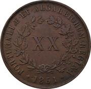 20 Réis - Maria II -  reverse