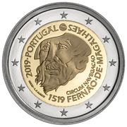 2 Euro (500th anniversary of Magellan Circumnavigation) -  obverse