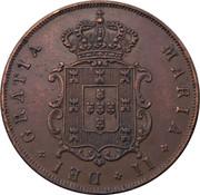 5 Réis - Maria II – obverse