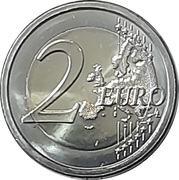 2 Euro (Tokyo Olympic Games) -  reverse