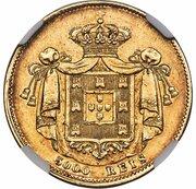 5000 Reis - Maria II – reverse