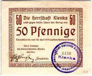 50 Pfennig (Klenka) – obverse