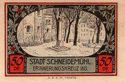 50 Pfennig (Schneidemühl; Sparkasse) -  reverse