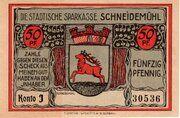 50 Pfennig (Schneidemühl; Sparkasse) – obverse