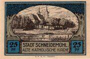 25 Pfennig (Schneidemühl; Sparkasse) – reverse