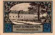 75 Pfennig (Schneidemühl; Sparkasse) – reverse