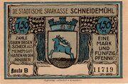 1.50 Mark (Schneidemühl; Sparkasse) – obverse