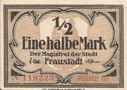 ½ Mark (Fraustadt) – obverse