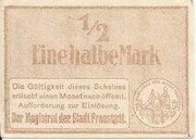 ½ Mark (Fraustadt) – reverse