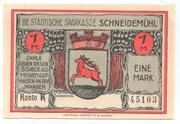 1 Mark (Schneidemühl; Sparkasse) – obverse