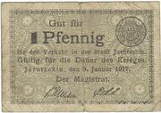 1 Pfennig (Jarotschin) – obverse