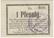 1 Pfennig (Langguhle) – obverse