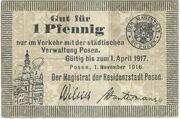 1 Pfennig (Posen) – obverse