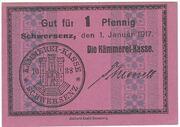 1 Pfennig (Schwersenz) – obverse