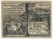 25 Pfennig (Posenmühle and Raiffeisenhaus) – obverse