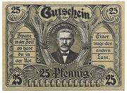 25 Pfennig (Posenmühle and Raiffeisenhaus) – reverse