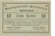 10 Heller (Pottenstein) – obverse